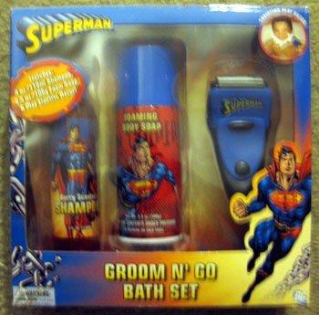 Superman Groom and Go Bath Set