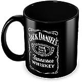 Tuelip Jack Daniel's Classic Style Full Black Printed Tea And Coffee Ceramic Mug 350 ML