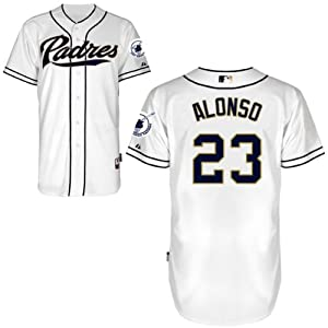 Yonder Alonso San Diego Padres Home Authentic Cool Base Jersey by Majestic by Majestic