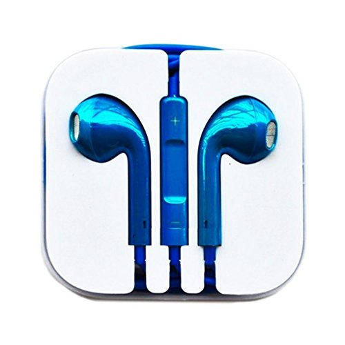 Thinkcase New Gold Earphones Headphones Earbud Volume Remote+Mic For Iphone4 4S 5 5C Ipad2 3 Ipod Others Device 05#