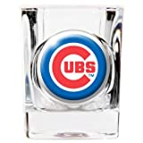 Great American 8900674906 2 oz. Chicago Cubs Square Shot Glass