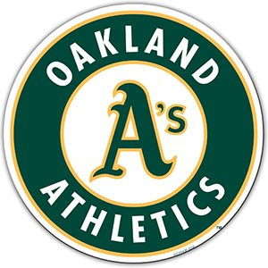 "Bsi Products MLB Oakland Athletics 12"" Die Cut Car Magnets"
