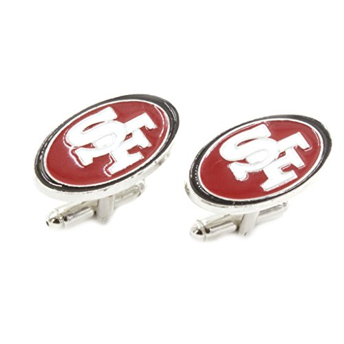 Superheroes NFL Sports San Francisco 49ers Logo Football Cufflinks
