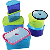 Amazon.com: Fit & Fresh Lunch on the Go Set with Ice Pack