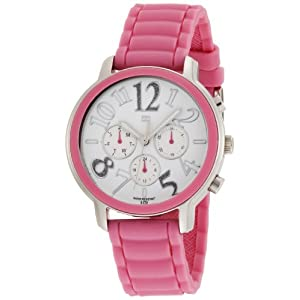 Tommy Hilfiger Women's 1780957 Pink Silicon Stainless Steel Sport Watch