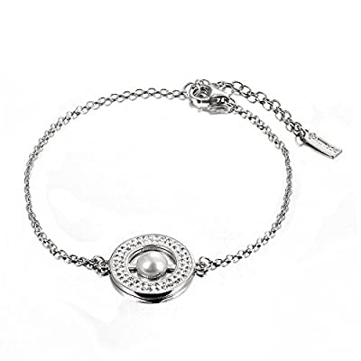 Dormith® 925 sterling silver Natural Freshwater pearl women bracelet