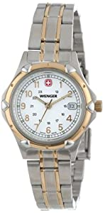 Wenger Women's 70609 Standard Issue White Dial Two-Tone Bracelet Watch
