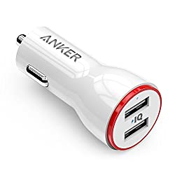 Anker PowerDrive 2 AK-A2310022 24W Dual USB Car Charger for Apple iPhone 6/6s/6 Plus, iPad Air 2, Samsung Galaxy S7/S6/S6 Edge/Edge+, Note 5