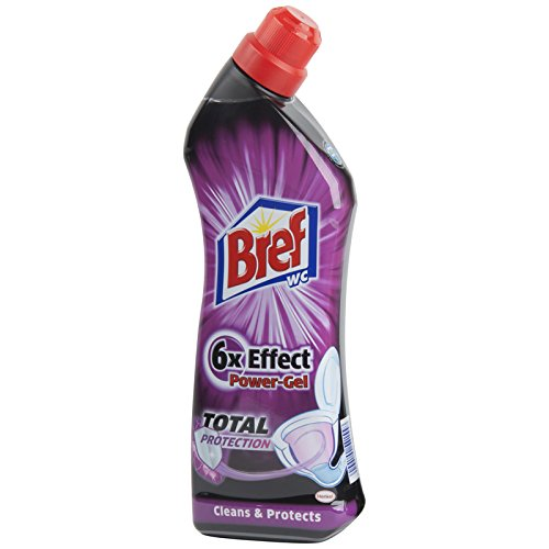 Bref by Henkel - 6x Total Protection Power Gel Toilet Cleaner 750ml (Pack of 6)