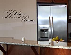 THE KITCHEN IS THE HEART OF THE HOME Vinyl wall quotes stickers sayings home ...