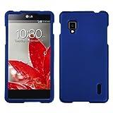 Asmyna LGLS970HPCSO203NP Titanium Premium Durable Rubberized Protective Case for LG Optimus G CDMA LS970 - 1 Pack - Retail Packaging - Dark Blue