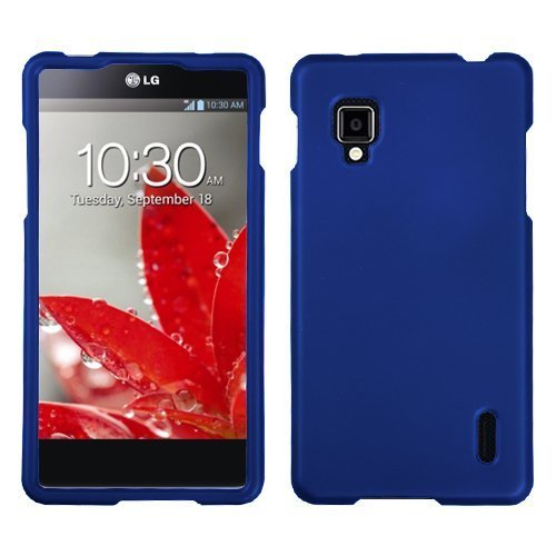 Asmyna Lgls970Hpcso203Np Titanium Premium Durable Rubberized Protective Case For Lg Optimus G Cdma Ls970 - 1 Pack - Retail Packaging - Dark Blue