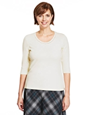 Classic Pure Cotton Cobble Trim Top