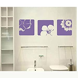 Great Value Wall Decor All-matching Removable Wallpaper Wall Stickers with Beautiful Flower Pattern Large Size Purple by Mzamzi