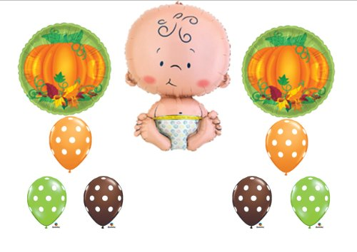 Lil Little Pumpkin Fall Baby Shower Party Balloons Decorations Supplies front-914323