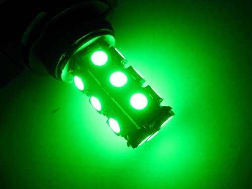 Ediors 2 X H8 H11 18 5050 Smd Led Car Day Driving Fog Head Turn Backup Reverse Parking Rear Brake Light Lamp Replacement Green