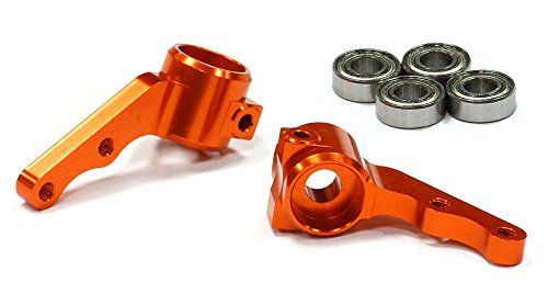 Integy RC Hobby T7996ORANGE Steering Block II for 1/10 Electric Slash 2WD, Stampede 2WD, Rustler & Bandit (Slash Proline Steering compare prices)