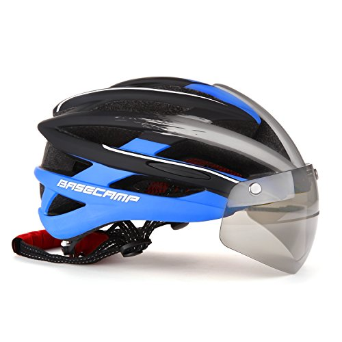 GVDV Adjustable Road motorcycle & Mountain Bike Helmet with Air Attack Eye Shield Goggles for Adult Men & Women, Teen Boys & Girls - Comfortable , Lightweight , Breathable (Road Cycling Helmet compare prices)