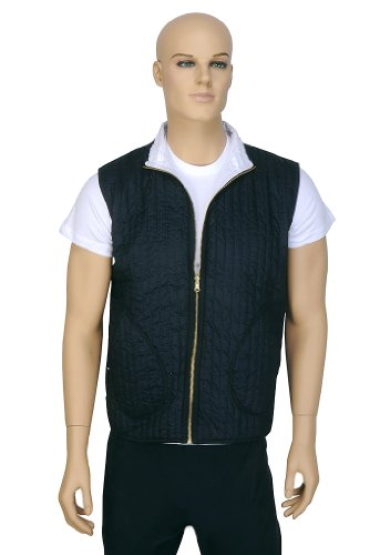 Designer Indian Handmade Light Weight Short Cotton Reversible Quilted Mens Jacket Size XL
