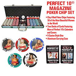 Perfect 10R Deluxe 500 Clay-Filled Poker Chip Set front-799463