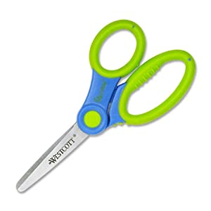 Westcott Soft Handle Kids Scissors with Anti-microbial Protection, Colors May Vary, 5-Inch Blunt (14596)