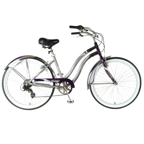Victory Ladies Touring Cruiser Bike (Gray/Purple, 26 X 17-Inch)