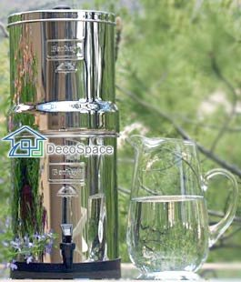 Big Berkey Water Filter with 2 Black Berkey Filters and 2 Sport Bottles