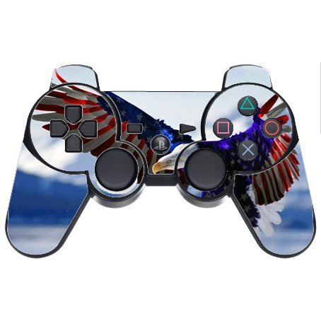 Trendy Accessories Eagle American Flag Design Pattern Print PS3 Dual Shock wireless controller Vinyl Decal Sticker Skin (Ps3 Controller Skin America compare prices)
