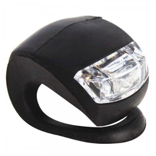 LED-Fahrradlicht für vorn / hinten, mit Silikonschlaufe, Schwarz 2 LED