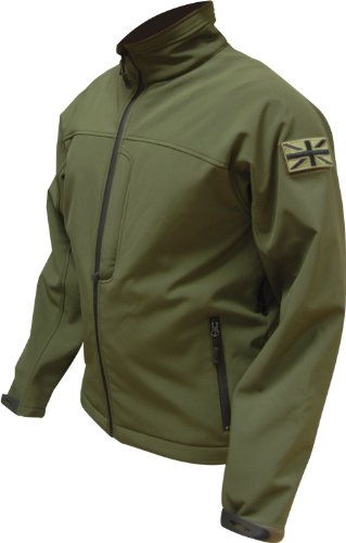 Highlander Odin SOFTSHELL Waterproof and Breathable Mens Jacket - Olive Green