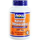 NOW Foods by Now Natural Resveratrol Cardiovascular Support 200 mg- 120 Veg Caps (Tamaño: 120 Veg Capsules)