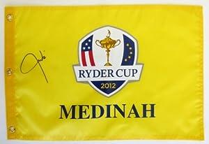 Justin Timberlake Signed 2012 Ryder Cup Medina Yellow Flag PSA/DNA T06657