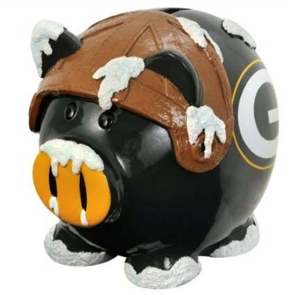 Green Bay Packers Small Thematic Piggy Bank from Forever Collectibles