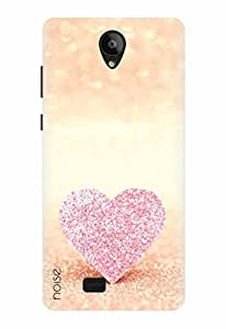 Noise Designer Printed Case / Cover for Swipe Konnect Plus / Patterns & Ethnic / Blingy Pink Heart Design