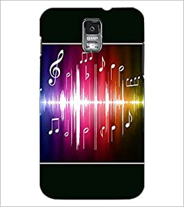 PrintDhaba Music D-1413 Back Case Cover for SAMSUNG GALAXY S5 (Multi-Coloured)