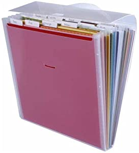 Advantus Cropper Hopper Expandable Paper Organizer, Frost, 12-Inch-by-12-Inch