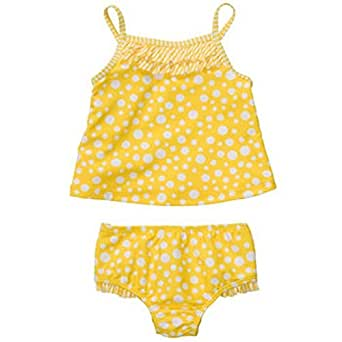 Carter's Baby Girl Yellow 2-piece Polka Dot Swimsuit (24 Months)