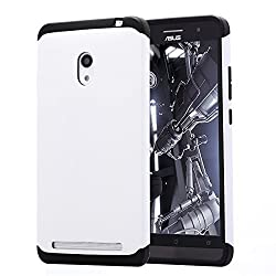 ASUS ZenFone 6 AnoKe? Armor dual layer bumper case TPU PC hybrid protective case for ASUS ZenFone 6 (Armor White)