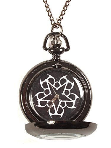 [Black Veil Brides Logo Pocket Watch Necklace] (Black Veil Brides Fallen Angel Costume)