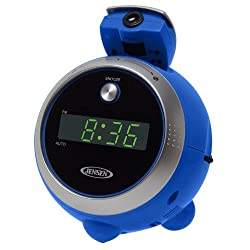 Jensen JCR-222-BL AM/FM 0.6-Inch Green LED Display with Time Projection (Blue)