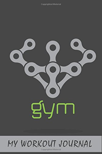My Workout Journal: Gym Label, 6 x 9, 50 Daily Workout Logs