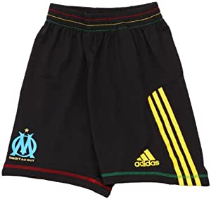 adidas OM F50 TRG Sho Short d'entrainement OM football homme Noir/Jaune citron 40