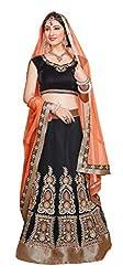 atisundar elegant Velvet Lehenga in Black- 6837_30_51007