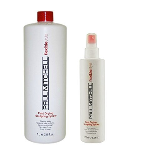 Fast Dry Sculpting Spray Unisex Hair Spray by Paul Mitchell Duo, 33.8oz and 8.5oz by Paul Mitchell