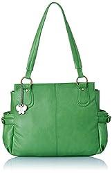 Butterflies Women's Handbag (Green) (BNS 0343 GN)