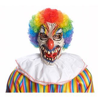 Funny Bones Evil Clown Mask Adult Halloween Costume Accessory