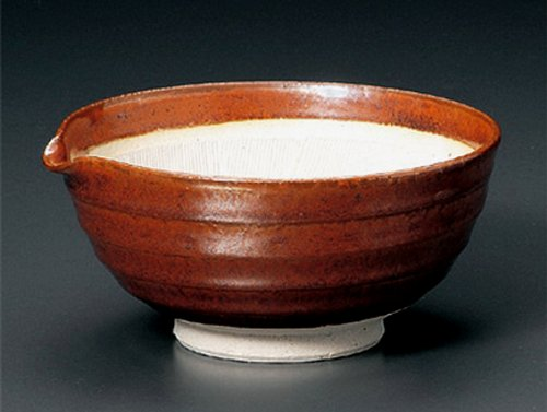 Red-Katakuchi Jiki Japanese Porcelain Ramen-Bowl For Udon,Soba,Teriyaki-Bowl Made In Japan