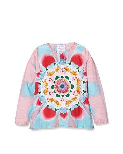 CUSTO GROWING Camiseta Manga Larga Namo Roundflower Rosa / Multicolor