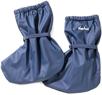 Playshoes Waterproof Rain Footies with Fleece Lining (Navy-Blue, Small)