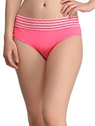 Clovia Trendy Lacy Panty In Pink